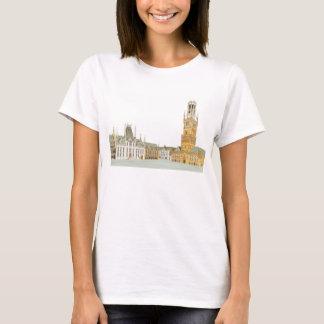 Camiseta Mercado. Bruges Bélgica