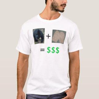 Camiseta Mercado de urso + Shorting = lucro