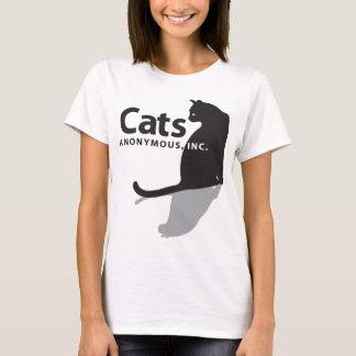 Camiseta Mercadoria anónima do logotipo dos gatos