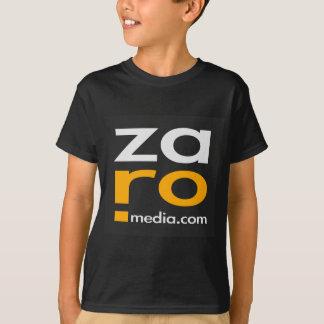 Camiseta Mercadoria do logotipo de ZARO no preto