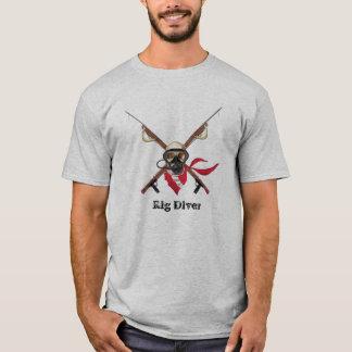 Camiseta Mergulhador do equipamento