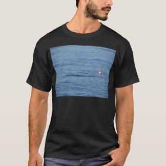 Camiseta Mergulhador do mar na natação do terno do