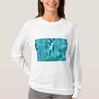 Camiseta Mergulhador e bolhas de mergulhador