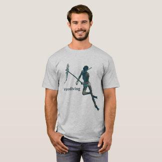Camiseta Mergulhador subaquático de Freediving Spearfishing