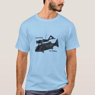Camiseta Mergulhador subaquático de Spearfishing do vintage