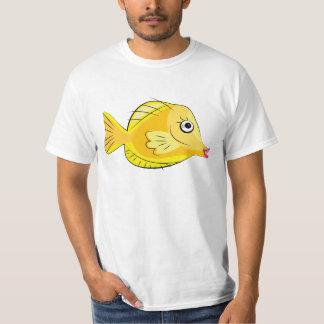 Camiseta Mergulhador tropical amarelo dos peixes de Tang