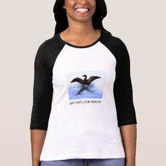 Camiseta Mergulhão-do-norte da dança por Jane Freeman, ARTE