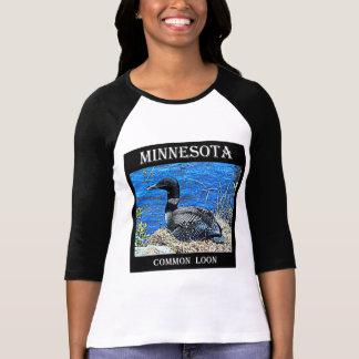 Camiseta Mergulhão-do-norte da terra comum de Minnesota