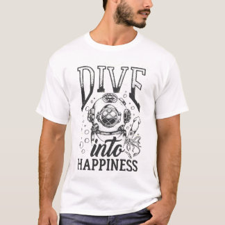 Camiseta Mergulhe no mergulho autónomo inspirador da