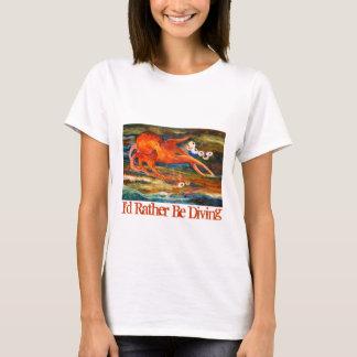 Camiseta Mergulho autónomo colorido do polvo eu