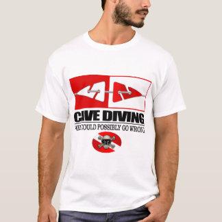 Camiseta Mergulho da caverna (linha marcadores)