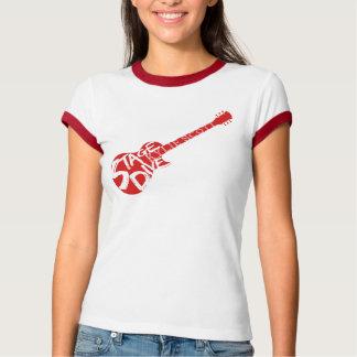 Camiseta Mergulho do palco - guitarra vermelha