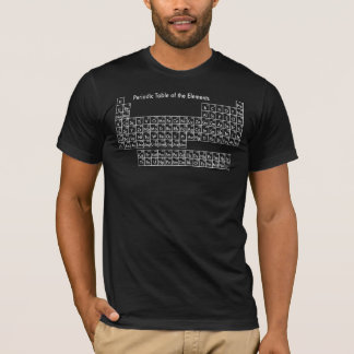 Camiseta Mesa periódica dos elementos