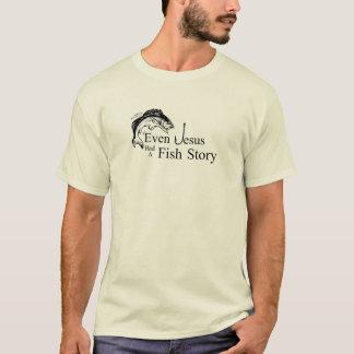 Camiseta Mesmo Jesus teve uma história dos peixes