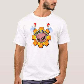 Camiseta Mestre do scrum - porcos e galinhas - servir a