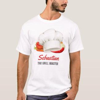 Camiseta Mestre personalizado da grade da cozinha do