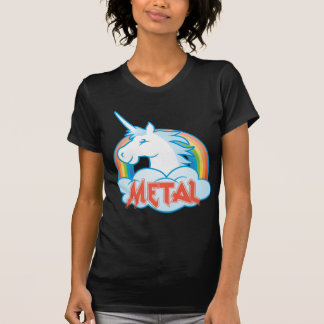 Camiseta metal-unicórnio