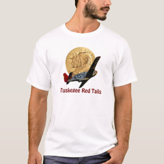 Camiseta Metal vermelho da cauda de Tuskegee da honra