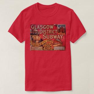 Camiseta Metro da cidade de Glasgow do vintage