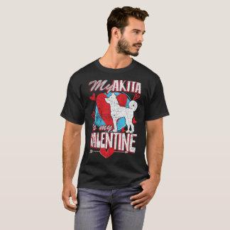 Camiseta Meu Akita é meu cão engraçado dos namorados
