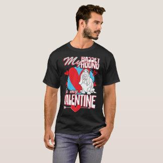 Camiseta Meu Basset Hound é meu t-shirt engraçado do cão