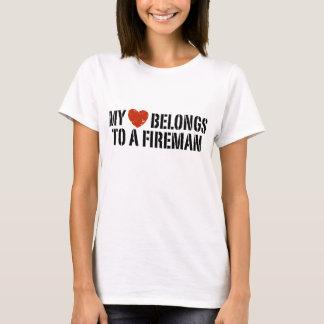 Camiseta Meu bombeiro do coração