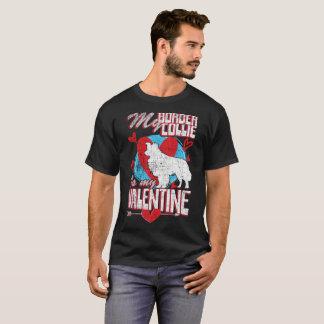 Camiseta Meu border collie é meu cão engraçado Distres dos