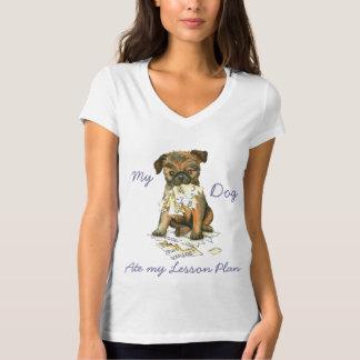 Camiseta Meu Bruxelas Griffon comeu meu plano de aula