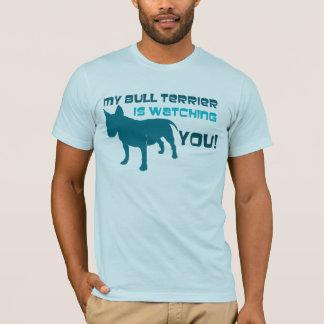 Camiseta Meu bull terrier está olhando-o