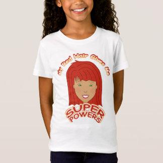 Camiseta Meu cabelo vermelho dá-me PODERES SUPER