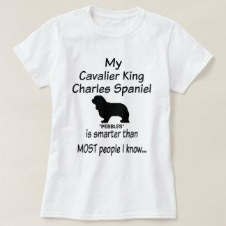 Camiseta Meu cão descuidado do Spaniel de rei Charles é