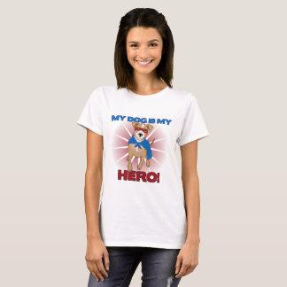 Camiseta Meu cão é meu t-shirt do herói