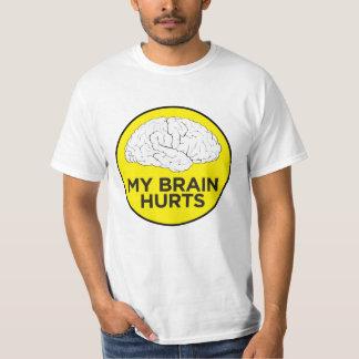 "Camiseta ""Meu cérebro fere """