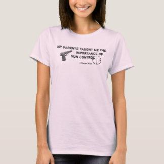 Camiseta Meu controlo de armas - de I senhorita nunca