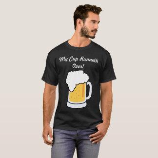 Camiseta Meu copo Runneth sobre o t-shirt