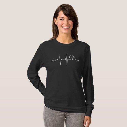 Camiseta Meu Coração bate por Lar doce Lar (negativo)