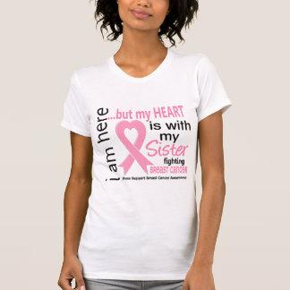 Camiseta Meu coração é com meu cancro da mama da irmã
