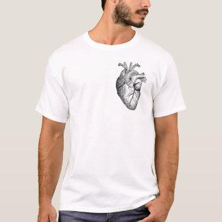 Camiseta Meu coração (esboço preto)