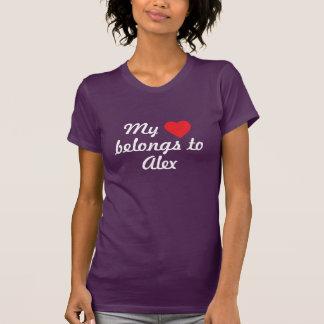 Camiseta Meu coração pertence a Alex