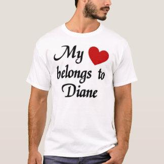 Camiseta Meu coração pertence a Diane