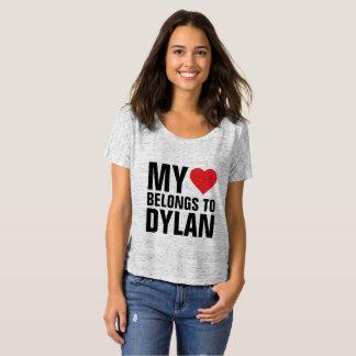 Camiseta Meu coração pertence a Dylan
