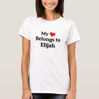 Camiseta Meu coração pertence a Elijah
