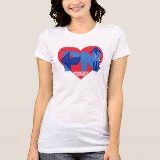 Camiseta Meu coração pertence à nação do Pantsuit