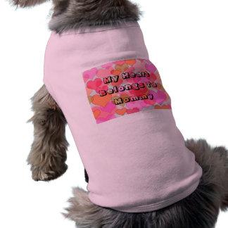 Camiseta Meu coração pertence à tipografia customizável das
