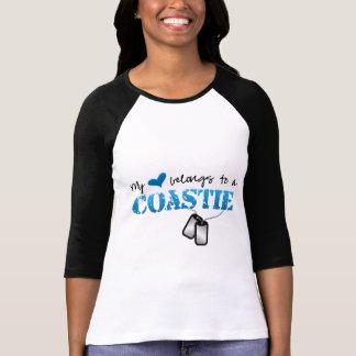 Camiseta Meu coração pertence a um Coastie