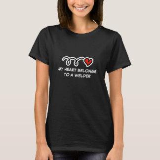 Camiseta Meu coração pertence a um t-shirt das mulheres do
