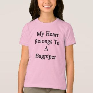 Camiseta Meu coração pertence a um tocador de