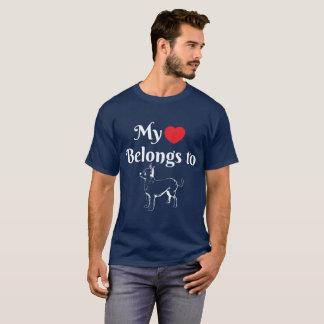 Camiseta Meu coração pertence a uma chihuahua