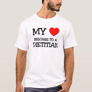 Camiseta Meu coração pertence a uma DIETISTA