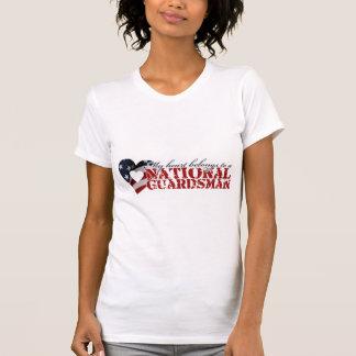 Camiseta Meu coração pertence a uma guarda nacional